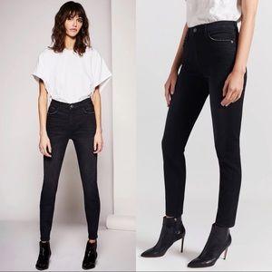 Current Elliot The High Waist Stiletto Black Jeans